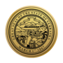 Nebraska Engraved Medallion Gold Insignia
