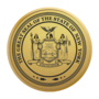 New York Engraved Medallion Gold Insignia