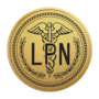 Nursing LPN Gold Engraved Medallion Insignia