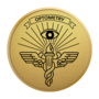 Optometry Gold Engraved Medallion Insignia