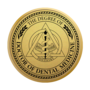 PhD of Dentistry Gold Engraved Medallion  Insignia