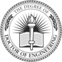 PhD of Engineering Embossed Black Insignia