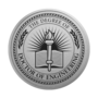 PhD of Engineering Engraved Medallion Silver Insignia