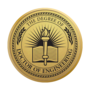 PhD of Engineering Engraved Medallion Gold Insignia
