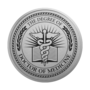 PhD of Medicine Engraved Medallion Silver Insignia