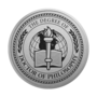 PhD of Philosophy Engraved Medallion Silver Insignia