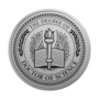 PhD of Science Engraved Medallion Silver Insignia