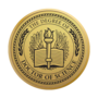 PhD of Science Engraved Medallion Gold Insignia