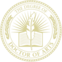 PhD of Arts Embossed Gold Insignia