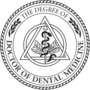 PhD of Dentistry Black Embossed Seal Insignia