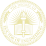 PhD of Engineering Embossed Gold Insignia