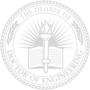 PhD of Engineering Embossed Silver Insignia
