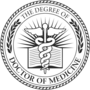 PhD of Medicine Embossed Black Insignia