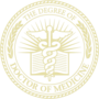 PhD of Medicine Embossed Gold Insignia