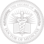 PhD of Medicine Embossed Silver Insignia