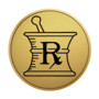 Pharmacy Gold Engraved Medallion Insignia