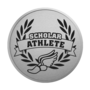 Scholar Athlete Silver Engraved Medallion Insignia