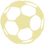 Soccer Embossed Gold Insignia