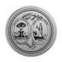 South Carolina Engraved Medallion Silver Insignia