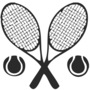 Tennis Embossed Black Insignia
