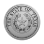 Texas Engraved Medallion Silver Insignia