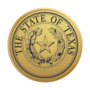 Texas Engraved Medallion Gold Insignia