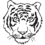 Tiger Embossed Black Insignia