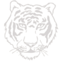 Tiger Embossed Silver Insignia