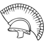 Trojan Embossed Black Insignia