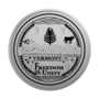 Vermont Engraved Medallion Silver Insignia