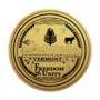 Vermont Engraved Medallion Gold Insignia