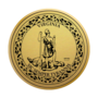 Virginia Engraved Medallion Gold Insignia