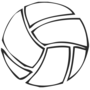 Volleyball Embossed Black Insignia