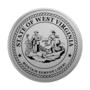 West Virginia Engraved Medallion Silver Insignia