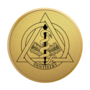 Dentistry Gold Engraved Medallion Insignia