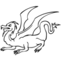 Dragon Embossed Black Insignia