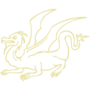 Dragon Embossed Gold Insignia