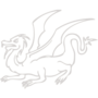 Dragon Embossed Silver Insignia