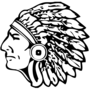 Indian Chief Embossed Black Insignia