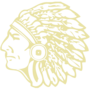 Indian Chief Embossed Gold Insignia