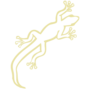 Lizard Embossed Gold Insignia