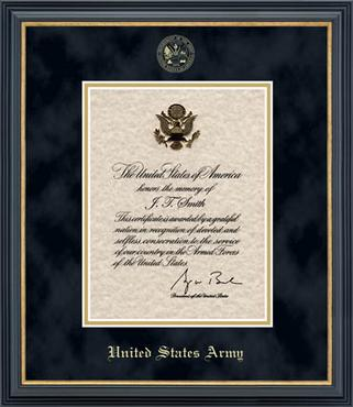 framed presidential memorial certificate by church hill classics