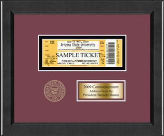 arizona state university 2009 commencement ticket frame