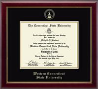 Western Connecticut State University Diploma Frame