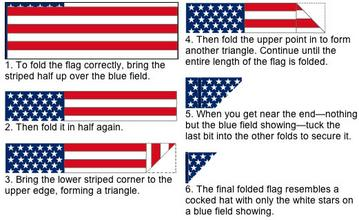 how to fold american flag