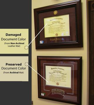 damaged versus preserved diplomas