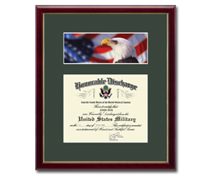 military display cases and specialty gifts honorable discharge frames - Military Frames