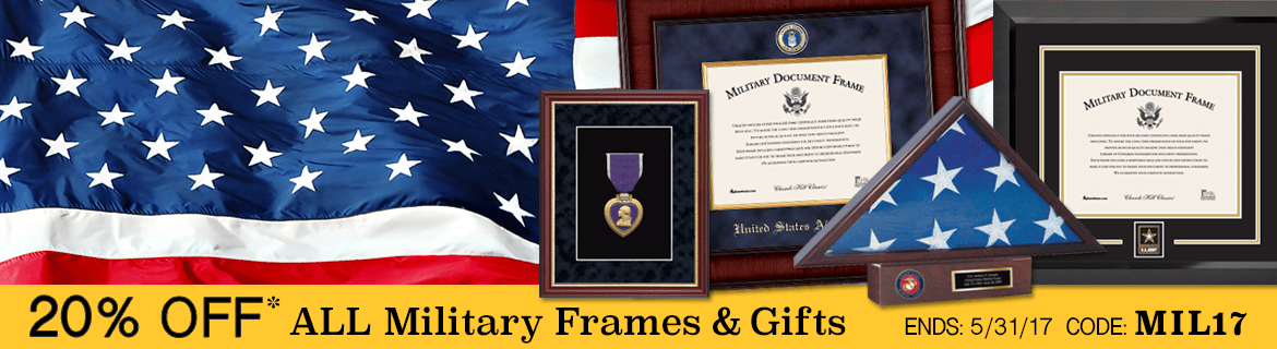 united states military frames and display cases
