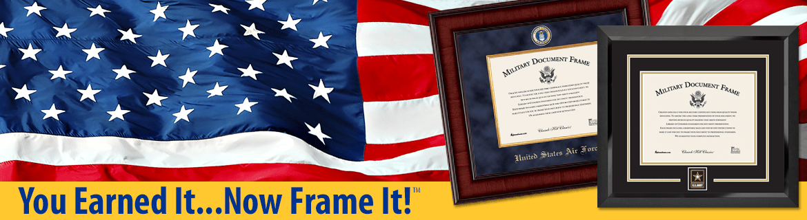 Military Picture Frames and Certificate Frames - Church Hill