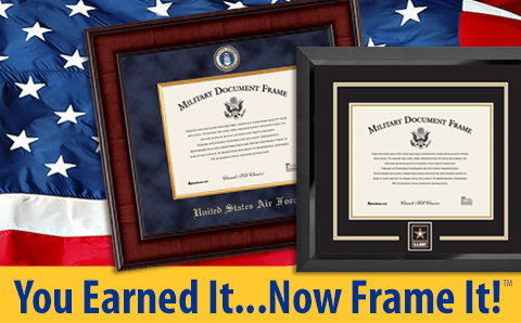 Military Picture Frames and Certificate Frames - Church Hill Classics